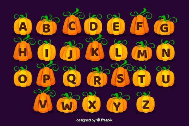 Halloween-pompoenalfabet