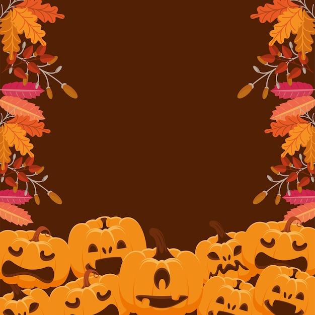 Halloween pompoenen grenskader