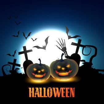 Halloween pompoenen illustratie