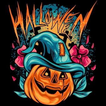 Halloween-pompoenen met donkere situatie