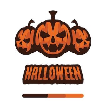 Halloween-pompoenen met tekst