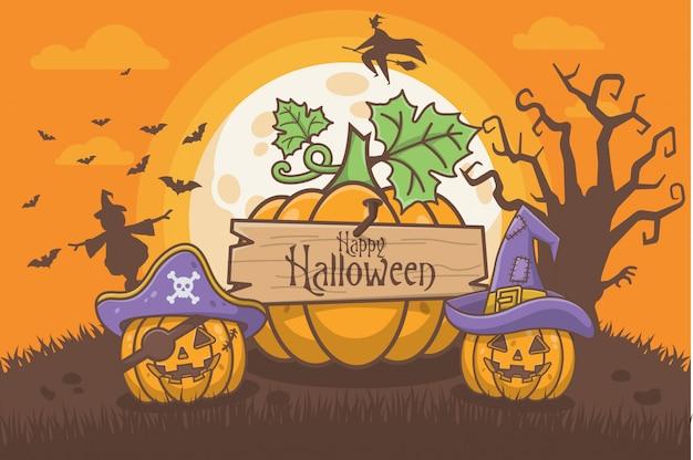 Halloween-pompoenkaart