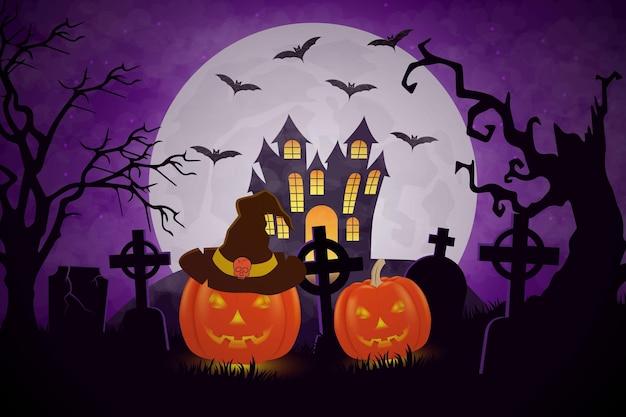 Halloween-pompoenontwerp als achtergrond