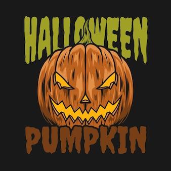 Halloween-pompoenontwerp