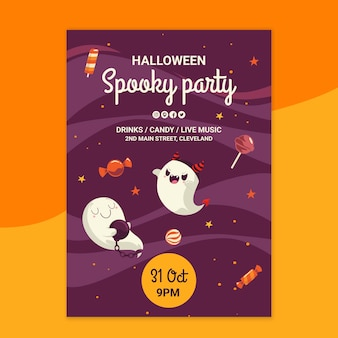 Halloween poster sjabloon