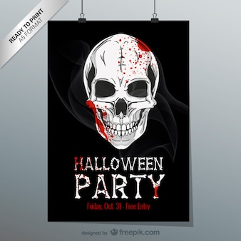 Halloween printbare flyer