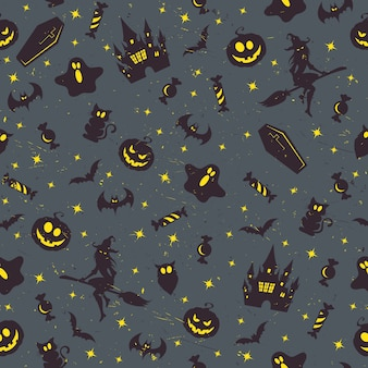 Halloween retro patroon
