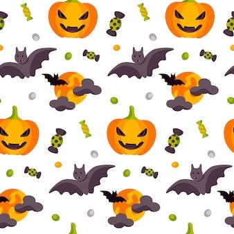 Halloween schattig naadloos patroon