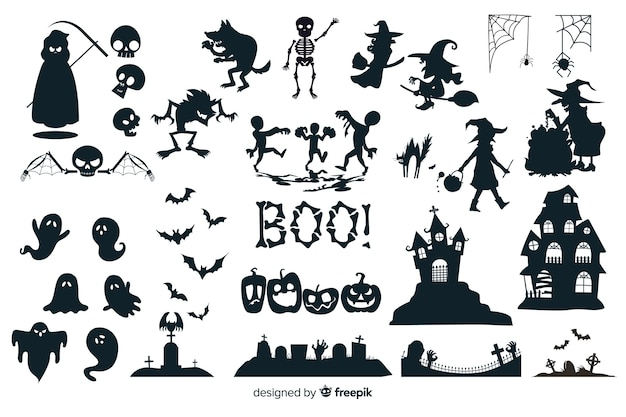 Halloween silhouet collectie