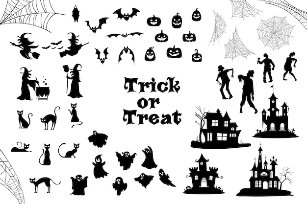 Halloween silhouet collectie