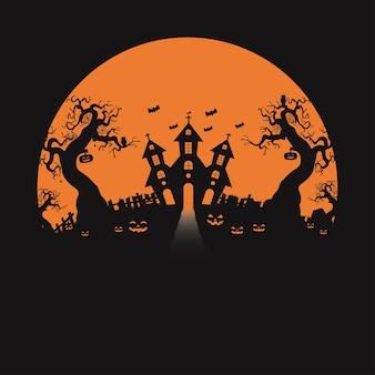 Halloween. silhouet concept. illustratie