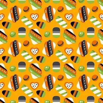 Halloween-snoepjes naadloos patroon met snoepjes