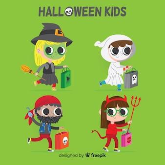 Halloween-soorteninzameling ter beschikking getrokken stijl