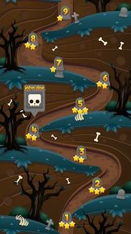 Halloween-spelniveaukaart
