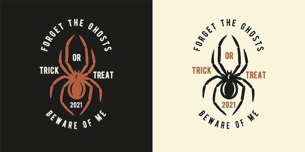 Halloween-spin of -insect voor halloween-afdruk