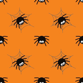 Halloween spinnen concept achtergrond voor halloween party nacht