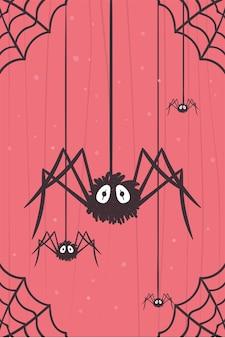 Halloween spinnen hangen
