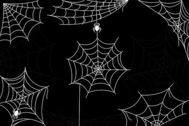 Halloween spinnenweb behang