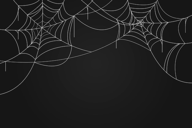 Halloween spinnenweb behang