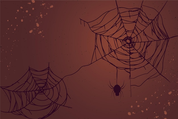 Halloween spinnenweb wallpaper