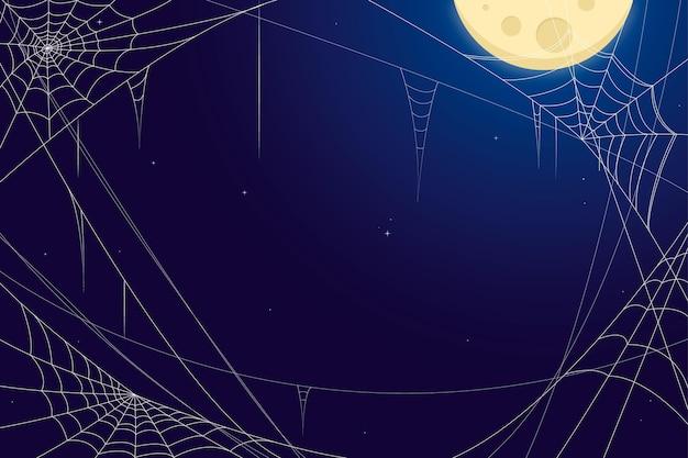 Halloween spinneweb achtergrond