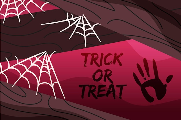 Halloween-spinneweb achtergrondthema