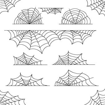 Halloween-spinnewebgrensinzameling