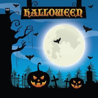 Halloween spookachtige achtergrond
