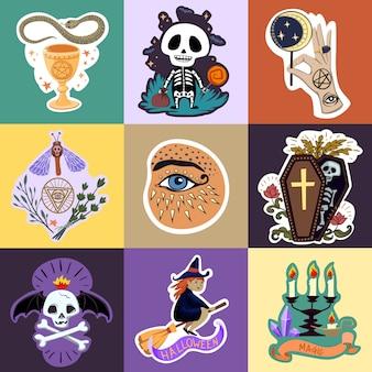 Halloween-stickers instellen