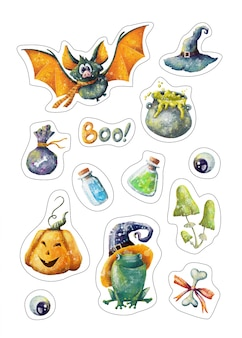 Halloween stickers set
