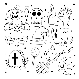Halloween stripfiguren set