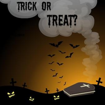 Halloween-thema met kerkhof