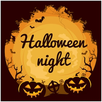 Halloween thema uitnodigingskaart