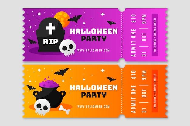 Halloween-tickets met kleurovergang