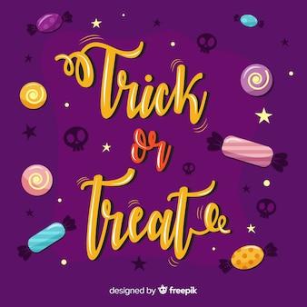 Halloween trick or treat-belettering