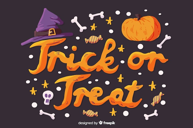 Halloween trick or treat concept