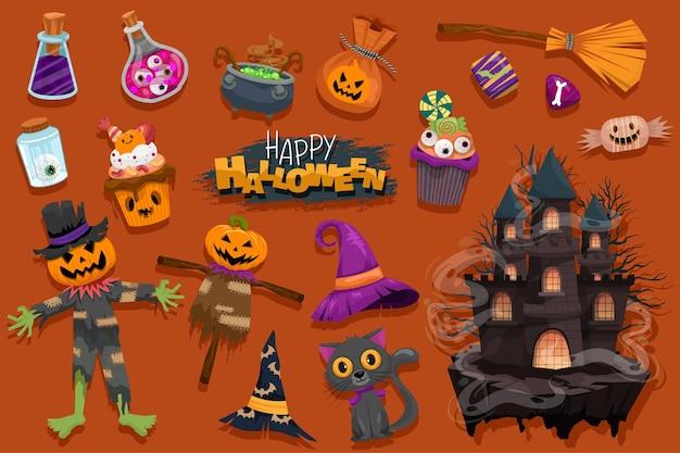 Halloween (trick or treat) poster voor uitnodiging.