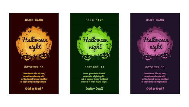 Halloween uitnodigingskaart set