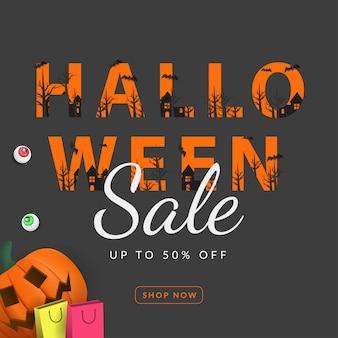 Halloween verkoop banner 3d