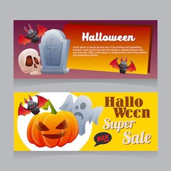 Halloween verkoop banner