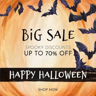 Halloween verkoop concept thema