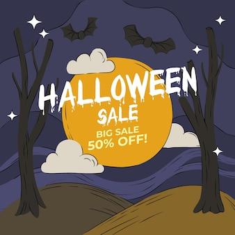 Halloween verkoop concept
