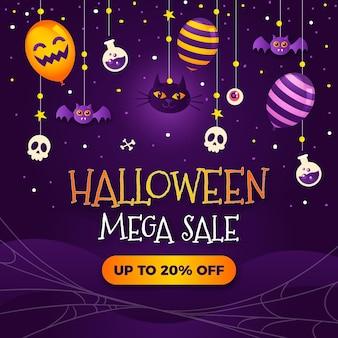 Halloween verkoop illustratie met kleurovergang