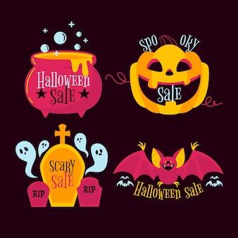 Halloween verkoop labelpakket