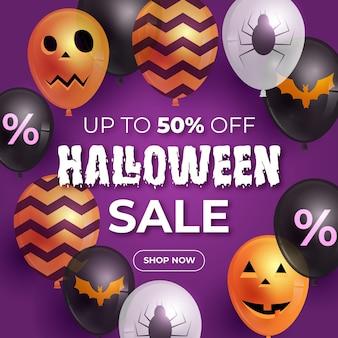 Halloween verkoop sjabloon