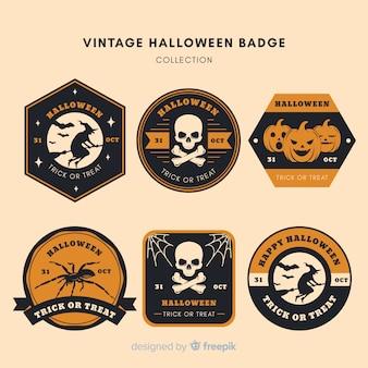 Halloween vintage badge collectie