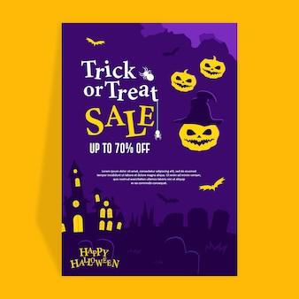 Halloween vlak ontwerp banner potrait tamplate
