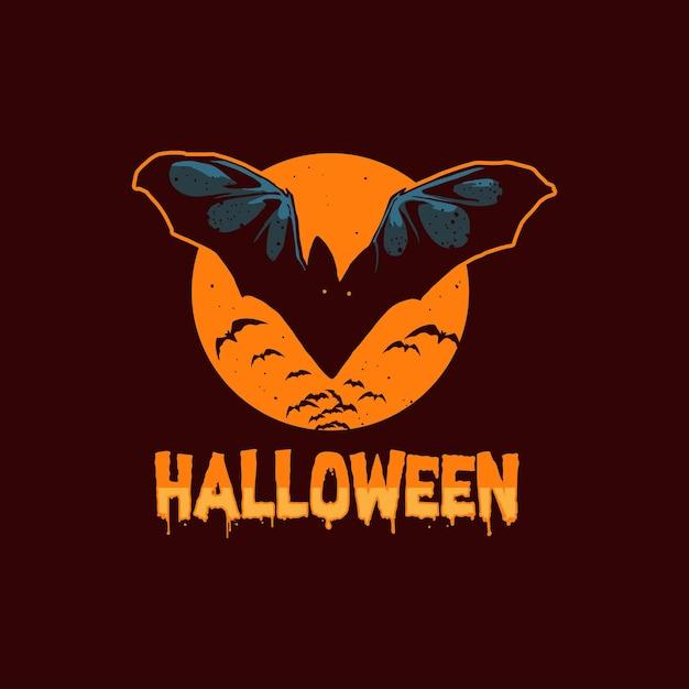Halloween vleermuizen illustratie