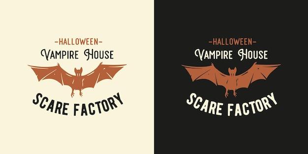Halloween vliegende vleermuis voor vampier halloween print