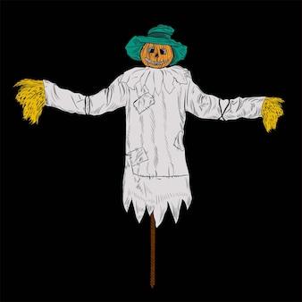 Halloween vogelverschrikker pompoen